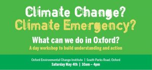 Climate Change? Climate Emergency? What can we do in Oxford? @ Environmental Change Institute